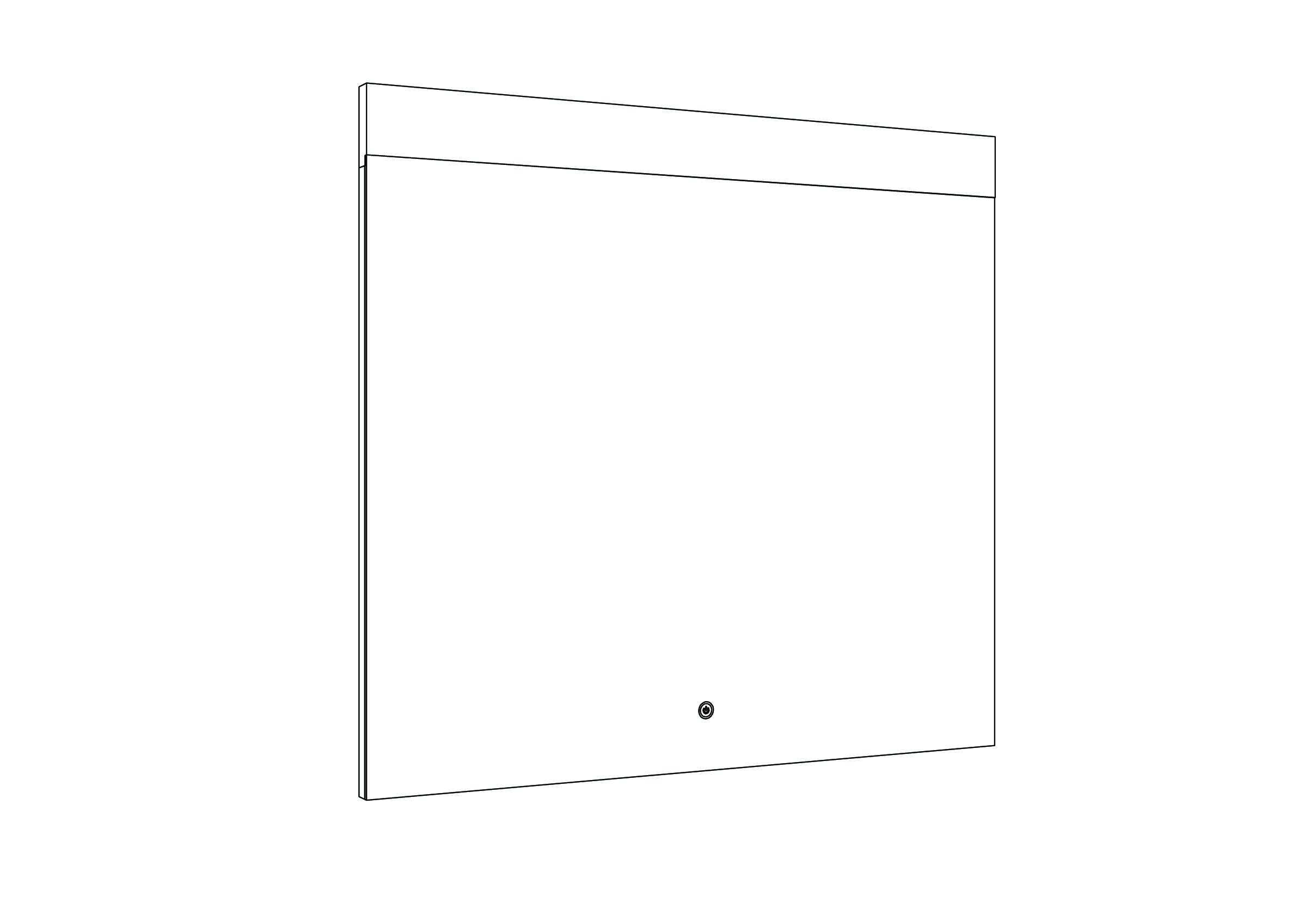 Miroir led rei allibert france for Miroir 90 cm
