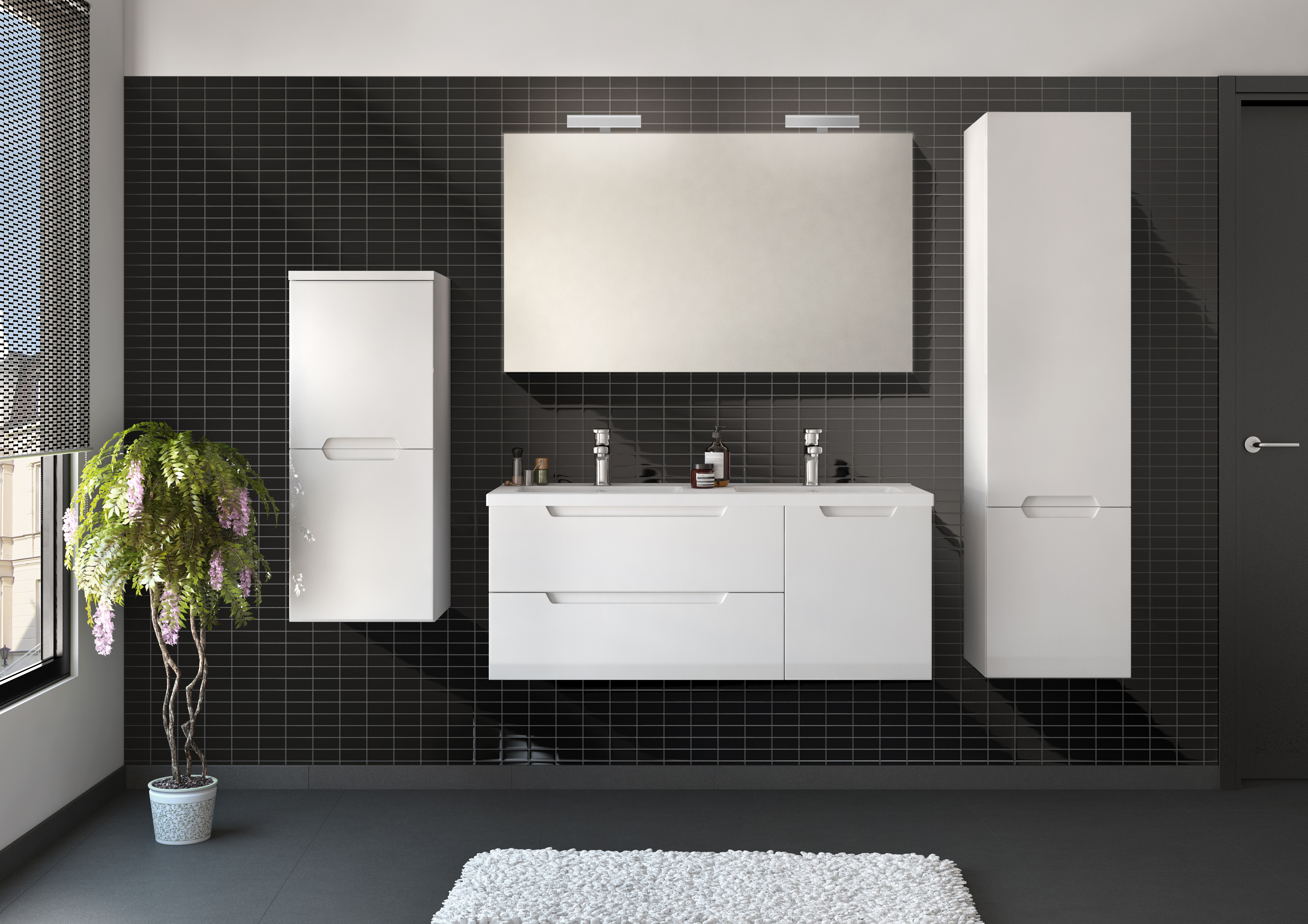 meuble de salle de bain vega allibert france. Black Bedroom Furniture Sets. Home Design Ideas