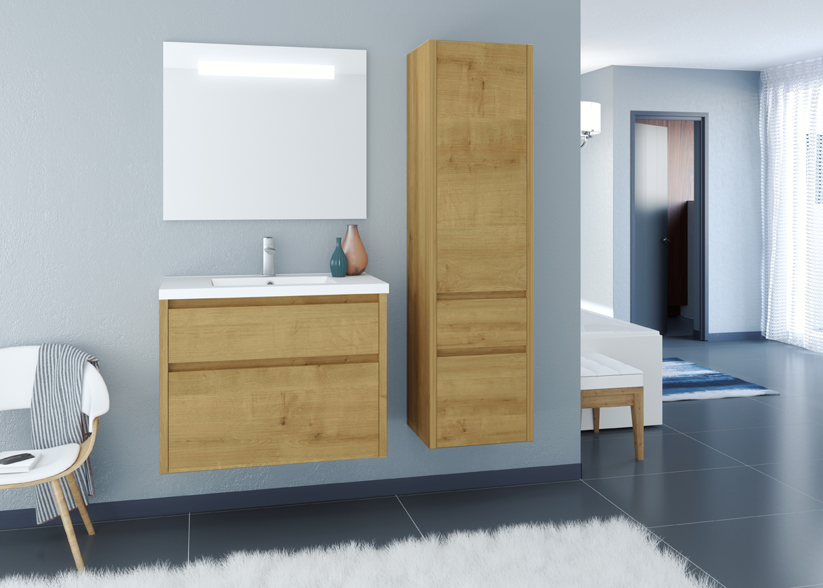 Meuble de salle de bain aston allibert france for Armoire salle de bain allibert