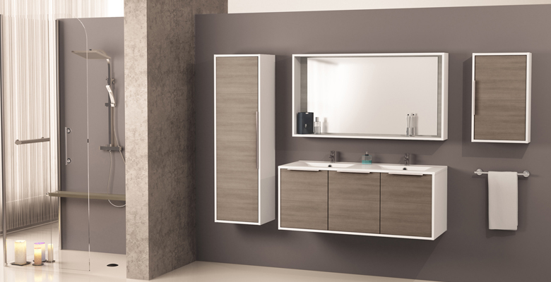 miroir cadre de salle de bains edge allibert france. Black Bedroom Furniture Sets. Home Design Ideas